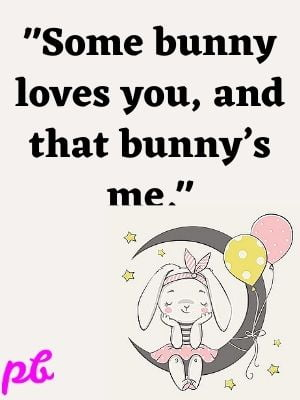 Some bunny loves you and that bunnys me.