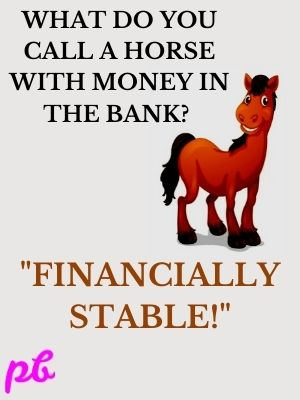 horse with money