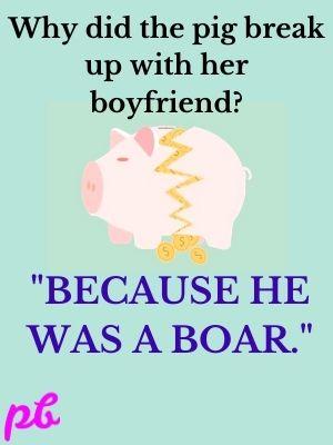 pig break up with her boyfriend