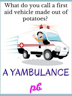 First Aid Jokes On Potato