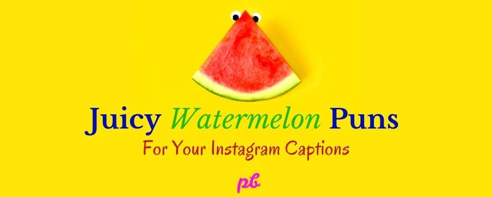 Watermelon Puns For Instagram Captions